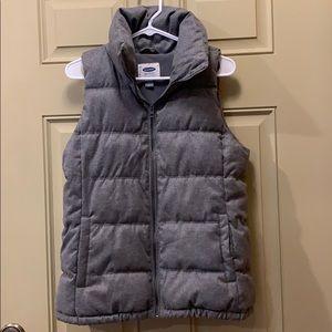 Heather gray puffer vest